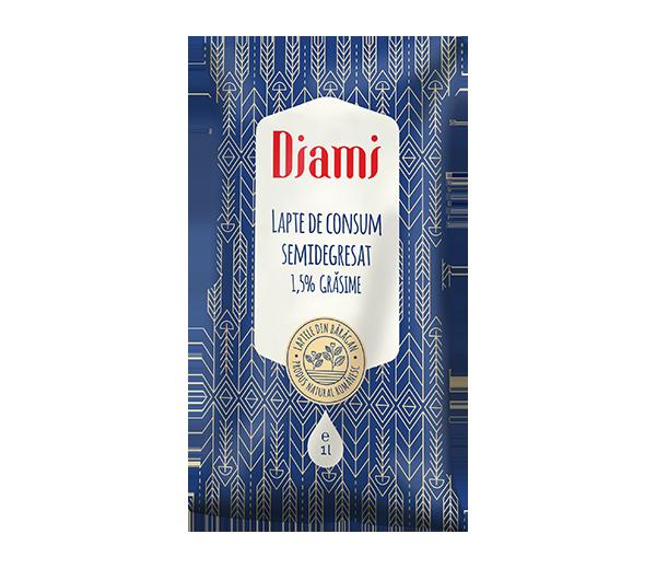 Lapte de consum semidegresat 1,5% punga